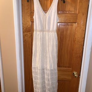 Long Maxi/ Indie Style Off White Dress